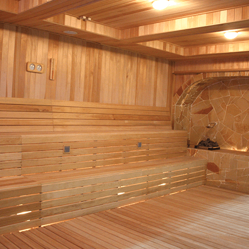 Custom made far infrared sauna by Sonic Steam and Suana