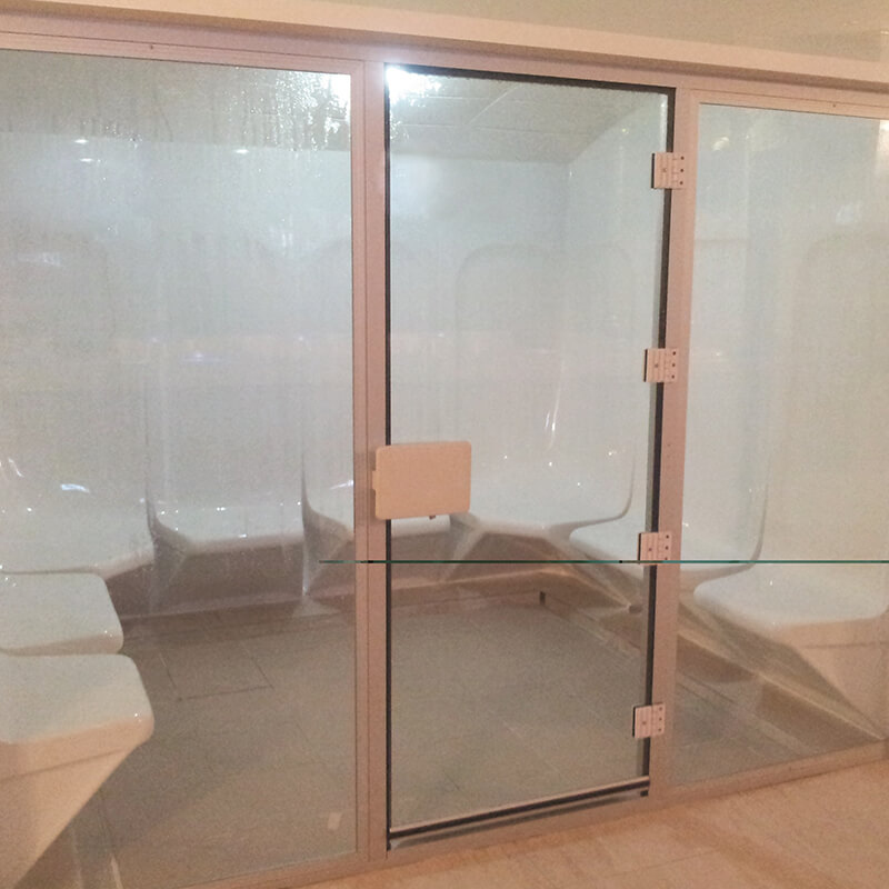 Steam Glass Door by Sonic Steam and Suana